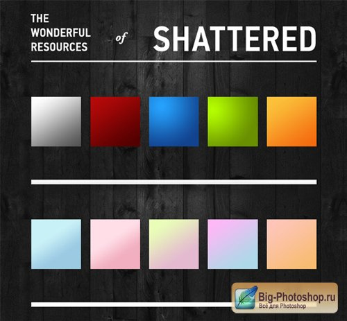 Градиенты для Photoshop - Shattereds and Pastel Gradients