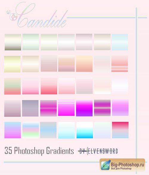 Градиенты для Photoshop - Candide Gradients