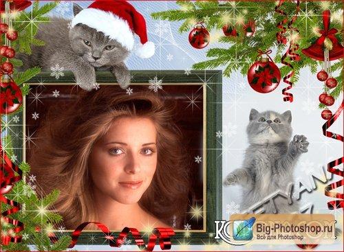 Рамочка для фотошоп новогодние