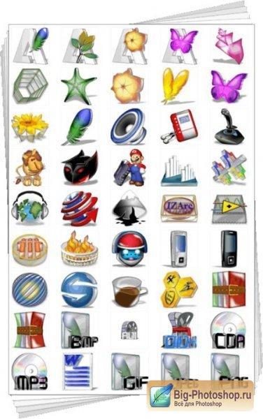 большие иконки windows 7: