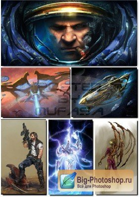 Artworks of the game StarCraft fans