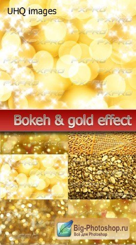 Amazing gold & bokeh effect