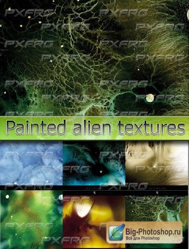 Live painted alien textures