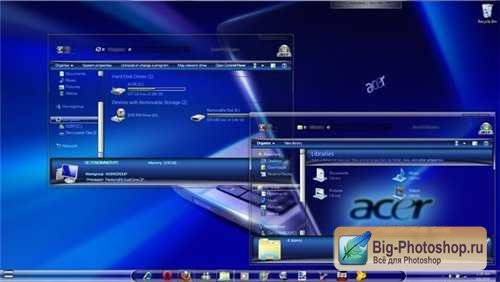 Темы для Windows: Acer Seven Style