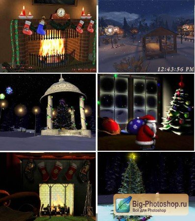 Screensaver Christmas and New Year Big Pack
