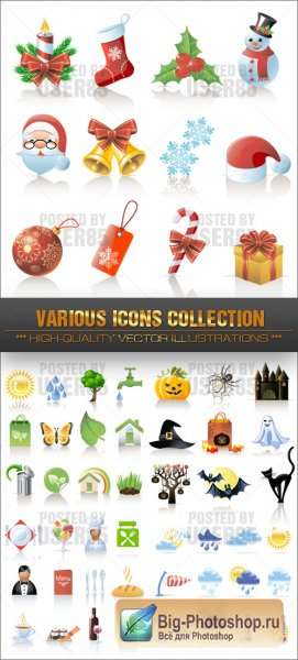 Векторные Иконки Stock Vector - Various Icons Collection