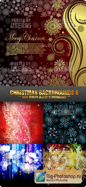Векторный клипарт Stock Vector - Christmas Backgrounds 8
