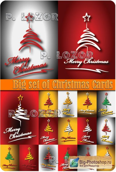 Big set of Christmas Cards