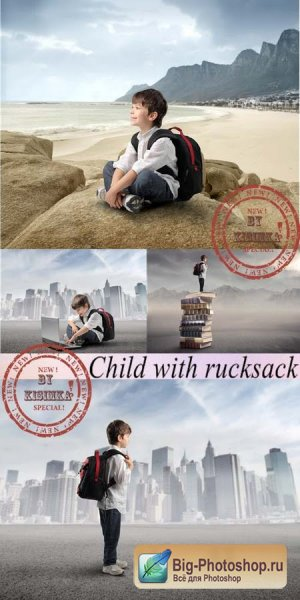 Child with rucksack