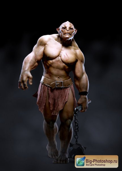 Fully Lit, Rigged & Textured Troll Model