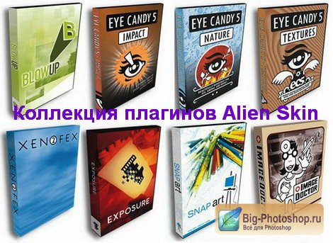 Коллекция плагинов Alien Skin Plugins + Video Tutorials (2011/ x86/x64)