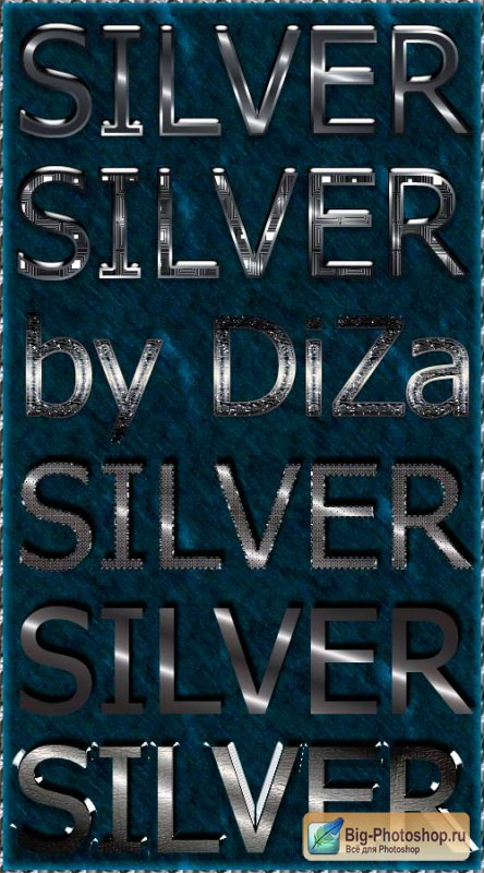 6 silver text styles
