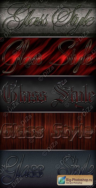 Glass Styles for Photoshop