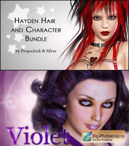Hayden Bundle Hair and Character for V4