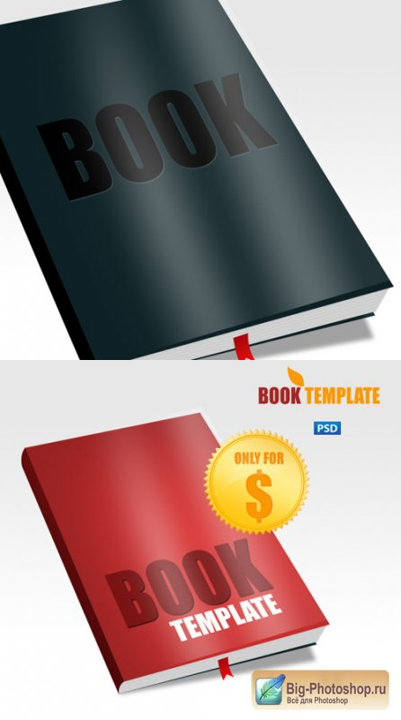 Book Template Psd for Photoshop