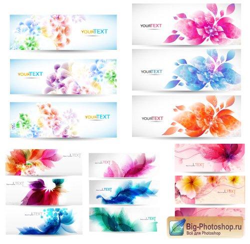 Баннер с цветами