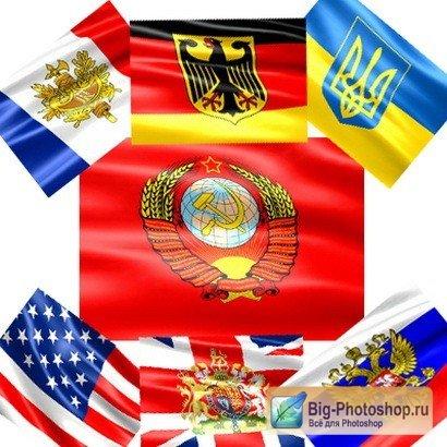 флаги стран россии