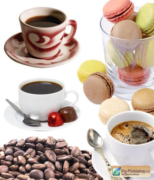 Фотосток чашка кофе и кофейные зерна