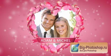 Heart of petals - Wedding opener - Projects for After Effects (Videohive)
