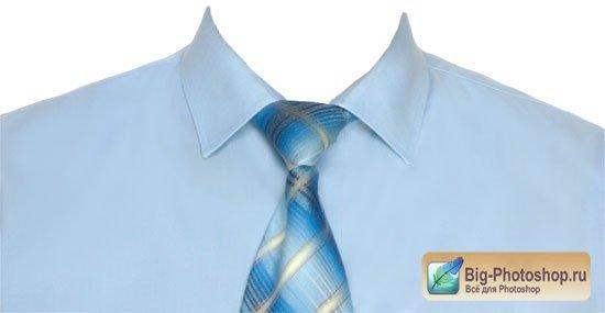 Белая рубашка с галстуком для фотошопа
