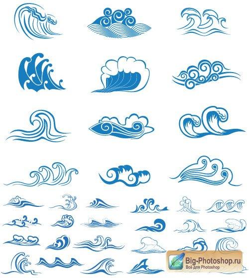 Морские элементы вектор