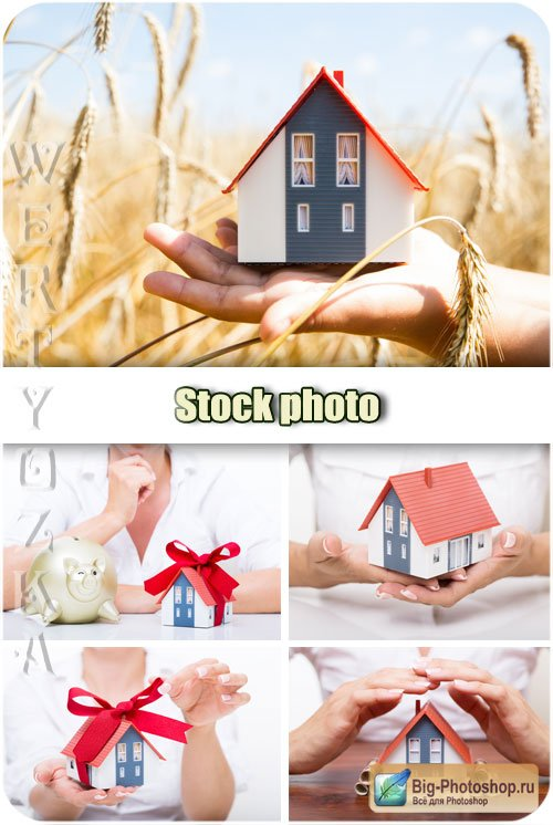 Покупка дома / Buying a home - raster clipart