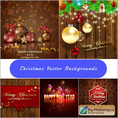Wooden Christmas backgrounds with balls with pattern (vector)