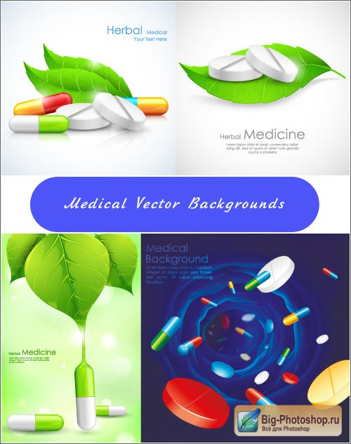 Medical backgrounds Vector