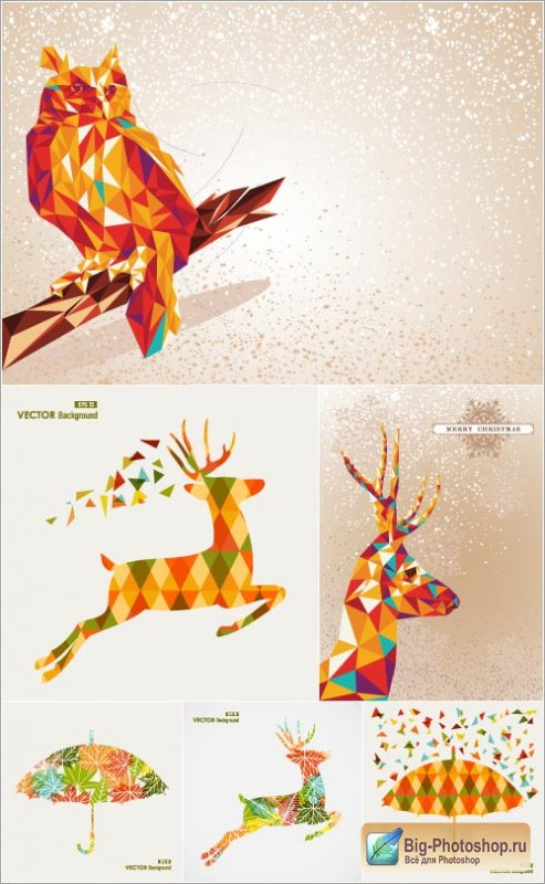 Christmas background patterns 5 (vector)