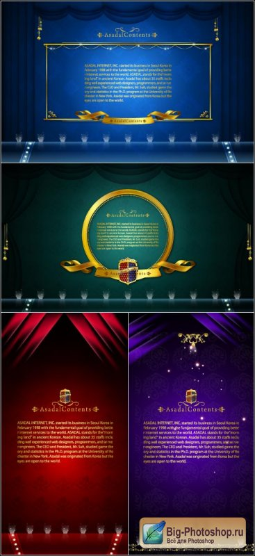 Cards backgrounds gold (Vector)
