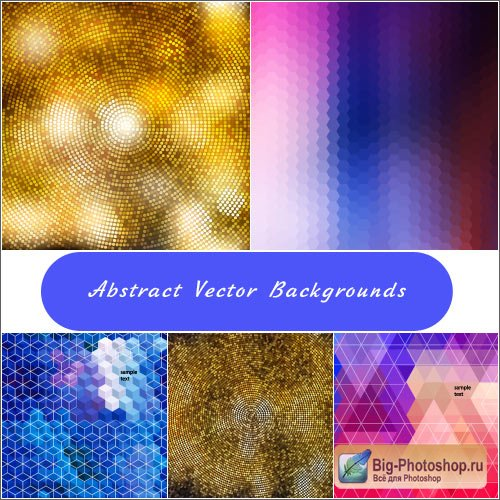Shimmering mosaic backgrounds vector