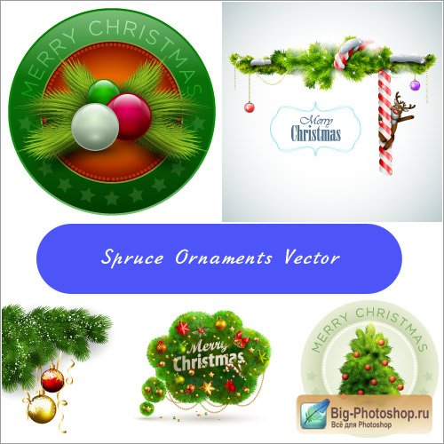 New Year & christmas clipart vector