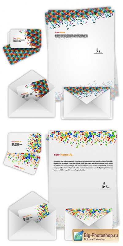 Business cards, envelopes booklet (Vector)