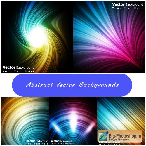 Abstract background with blurs funnels (Vector)