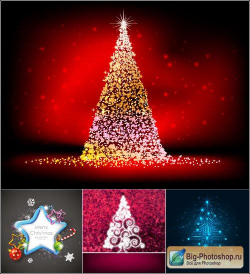 Dark Christmas backgrounds abstract vector