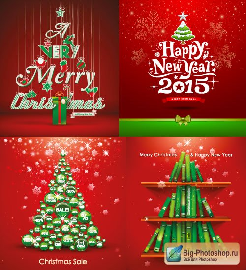 Red Christmas Sale background 44 vector