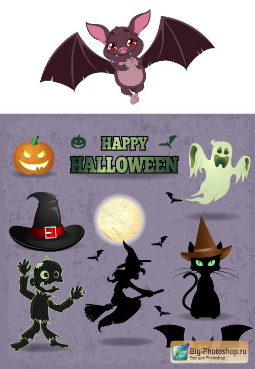 Holiday of Halloween 12 vector