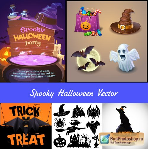Holiday of Halloween 1 vector