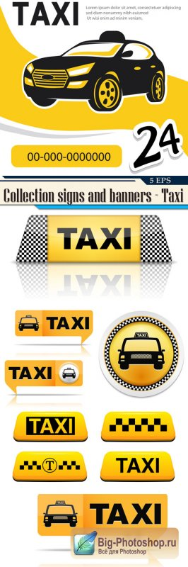 Collection signs and banners - Taxi