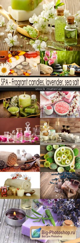 SPA - Fragrant candles, lavender, sea salt