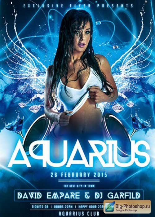 Aquarius Night Premium Flyer Template