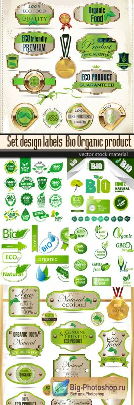 Set design labels - Bio Organic product