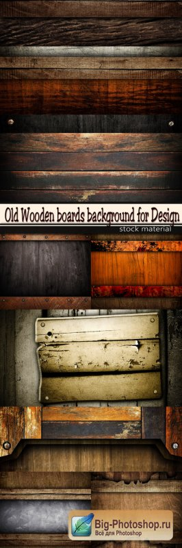 Old Wooden boards background for Design