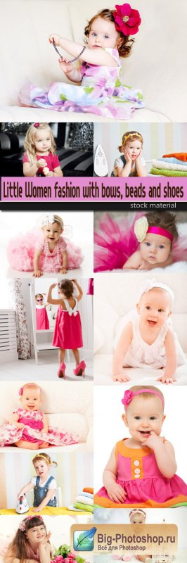 Little Women fashion with bows, beads and shoes