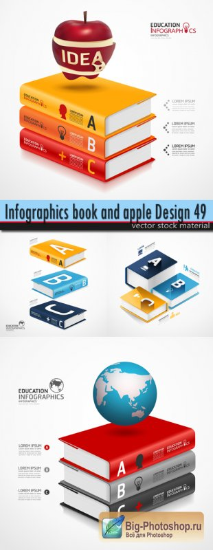 Infographics book and apple Design 49
