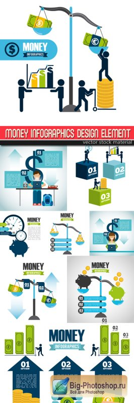 Money Infographics Design element