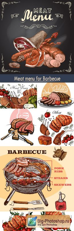 Meat menu for Barbecue