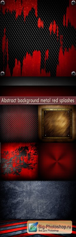 Abstract background metal red splashes