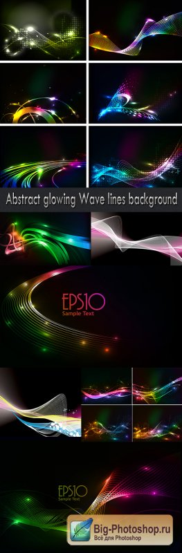 Abstract glowing Wave lines background