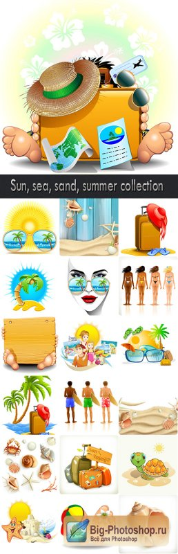 Sun, sea, sand, summer collection